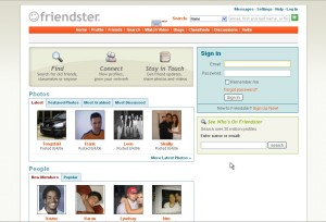 friendster page on 2006